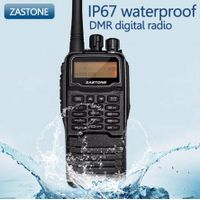 Two Way Radio ZASTONE DMR digital radio DP880 walkie talkie compatible with MOTOTRBO free headset
