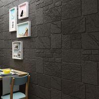 XPE foam modern waterproof soundproof home wallpaper 3d foam wallpaper sticker
