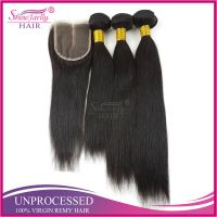 Aliexpress Human Hair Bundles With Lace Closure Factory Price Brazilian Hair Virgin With Closure