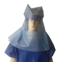 Favar PP PE Non-woven Protective Head Hood Anti-splash Isolated Face Shield