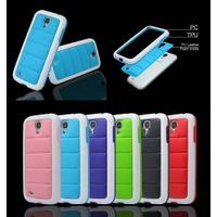 3 in 1 PC+TPU+PVC Cell Phone Sofa Mobile Phone Case for Samsung Galaxy S4