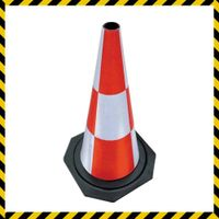 rubber reflective road traffic cone