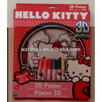 kids coloring poster set / stationery set
