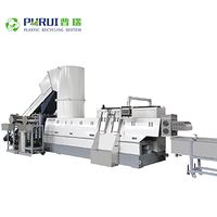 Plastic recycling machine plastic pelletizing line for PET polyester, PET yarn