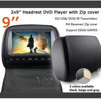 "9"" Headrest Monitor DVD Player VH91 thumbnail image"