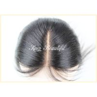 100% Unprocessed Malaysian Human Hair Lace Closure Natural Straight Bleached Middle Part