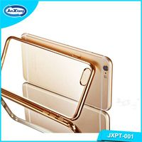 Fashion design transparent electroplating tpu phone case for iphone 6