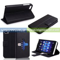 Wholesale PU Leather Stand Phone Case For Blackberry Z10