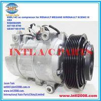 926008209R 447160-5790 GE447160-5790 denso 6SBL14C ac compressor for RENAULT MEGANE III 1.5 DCI  /SC