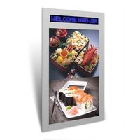 more images for one screen LCD display with walking words screen advertising digital sinage player