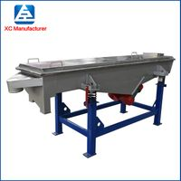 linear type pellet vibrating screening sieve equipment