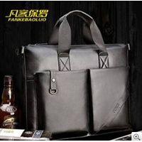 Men's leisure business package one shoulder men's retro worn portable document laptop bag