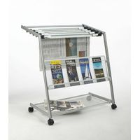 Outdoor Metal Newspaper Display Rack