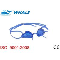 High quality waterproof professional racing swim goggles with anti-fog lens