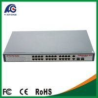 24 *10/100/1000Mbps full Gigabit poe switch/CCTV Network switche/ 15.4w IEEE802.3af thumbnail image