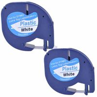 Compatible Dymo LetraTag 91201 Black on White (12mm x 4m) Plastic Label Tapes for Dymo LetraTag LT-1