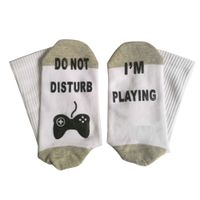 Do Not Disturb I'm Playing Funny Ankle Socks, Novelty Cotton Socks for Men Boys Kids Youth thumbnail image