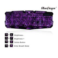 Cool Crack Pattern Keyboard with three adjustable color backlit