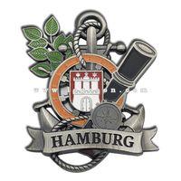 Vintage Anchor Shape Germany Souvenir Hamburg Fridge Magnet
