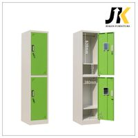 Double tier metal employee lockers