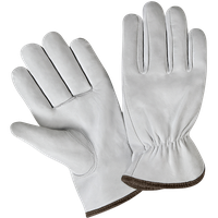 Goat Leather Driver Gloves, Back Elastic, Bottom Line with Trimming