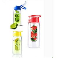 sj32-TRITAN material fruit infuser water bottle with easy carry lid BPA free 700ML thumbnail image