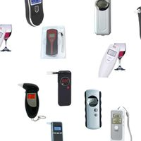 Hot Selling Keychain LED Digital Portable Electronic Police Breath Personal Breathalyzer Alcohol Bre