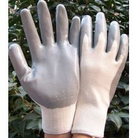 Gray Nitrile Palm Coated Gloves