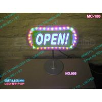 LED indoor advertisement sign board/ mini LED sign/ LED POP display MC-180 NO.005 power:6W