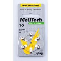 10 Zinc Air Mercury Free Hearing Aid Batteries