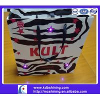 paper led lights shopping bag with logo printing