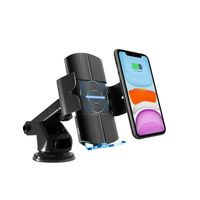 15W Phone Quick Charging Car Mount Wireless Charger for iPhone for Samsung KC QI certificate thumbnail image