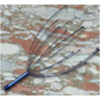 head massager with wooden round handle