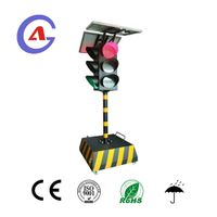 Temporary traffic signal light four side