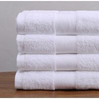100% egyptian cotton dyed white hotel bath terry towels