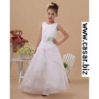 girls party dress, wedding dress, princess dress, long flower dress