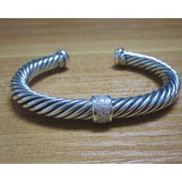 Sterling Silver Jewelry 7mm Cuff Silver Bracelet (B-093) thumbnail image