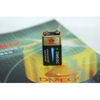 Hot sale 9V 6LR61 Super Alkaline battery with ROHS SGS IEC MSDS