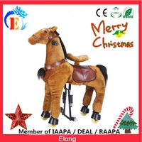 Elong plush mechanical horse ride kids animal ride toys