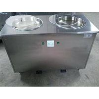 Roll ice cream machine with double pans thumbnail image