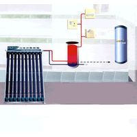 solar water heater of heat pipe separated from water tank