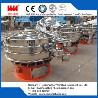 Rotary vibrating sieve for fine materials