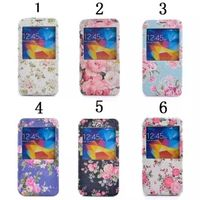 Patterned pu leather case cover window view stander cover for Samsung models galaxy series S7/S7 edg