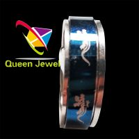 """Men's Womens """"Forever Love"""" Stainless Steel Ring Couples Valentine Wedding Engagement Promise Band"""