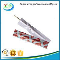 Individually paper wrapped toothpick
