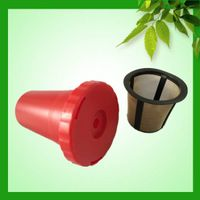 Biodegradable K-cup coffee filter with golden color mesh