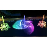Multi-media musical fountain water feature design
