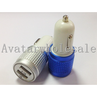 Knurled aluminum alloy car charger