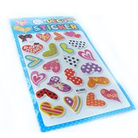 Heart Shape Puffy Sticker