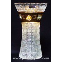 Bohemia Crystal Gold PK Curve Vase
